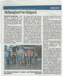 Skilanglauf im Ostpark