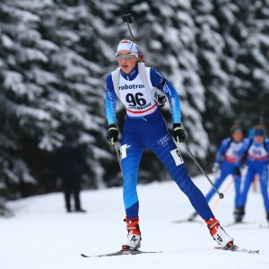 10.02.2018, xkvx, Wintersport, DSV Biathlon Deutschlandpokal - Altenberg, Massenstart v.l. SCHLICKUM Hannah